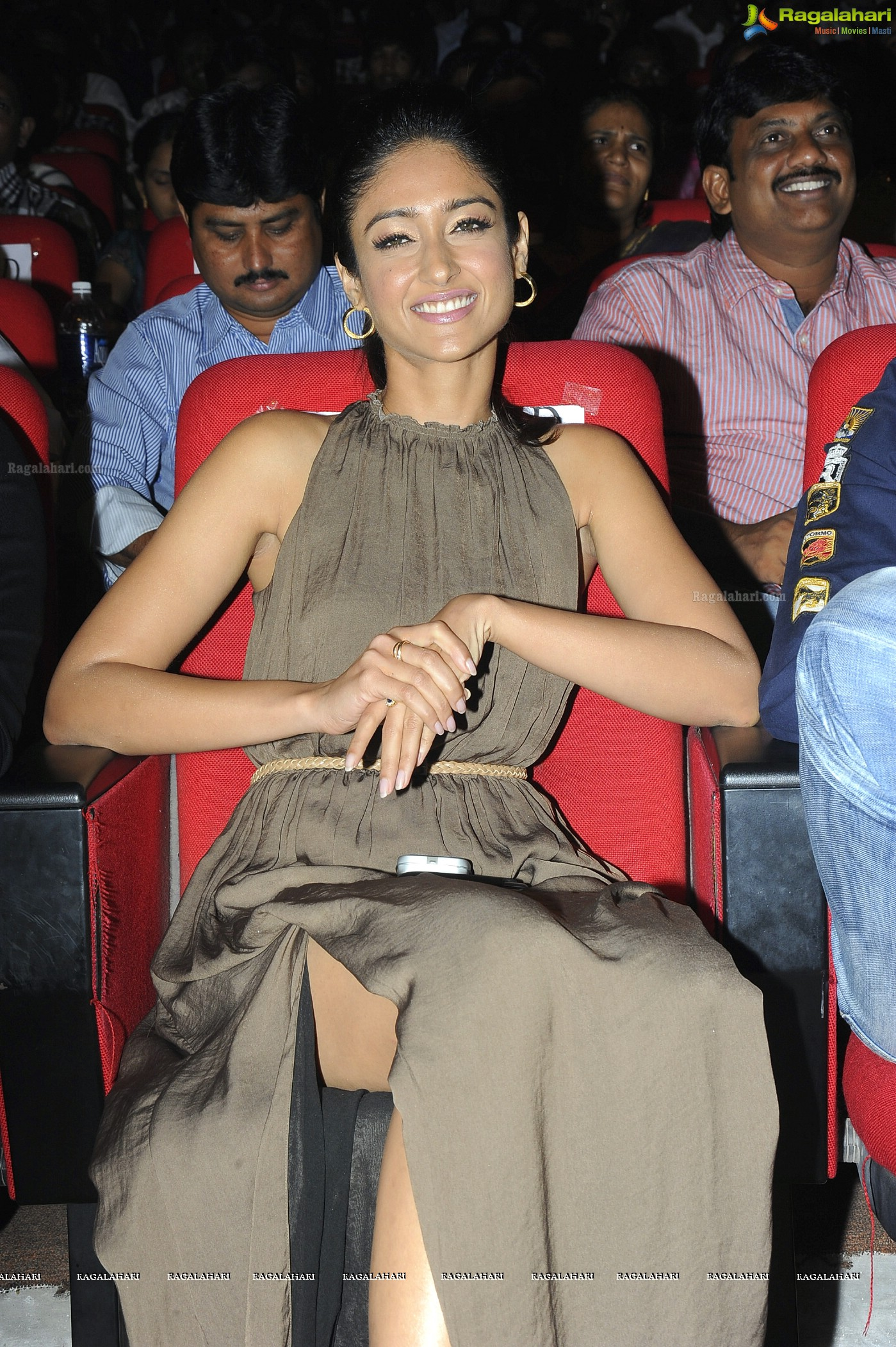 Ileana in Sleeveless Dress at Devudu Chesina Manushulu Audio Release Function