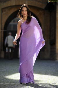 Gorgeous Tamanna in Lavender Lore Saree