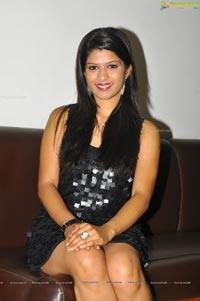 Model Nakshatra in Hot Black Skirt