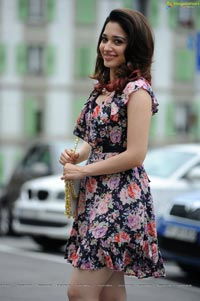 Tamanna in One-Piece Floral Skirt