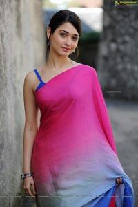 Beautiful Tamanna in Pink Saree