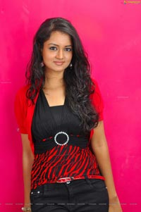 Beautiful Shanvi in Red Dress