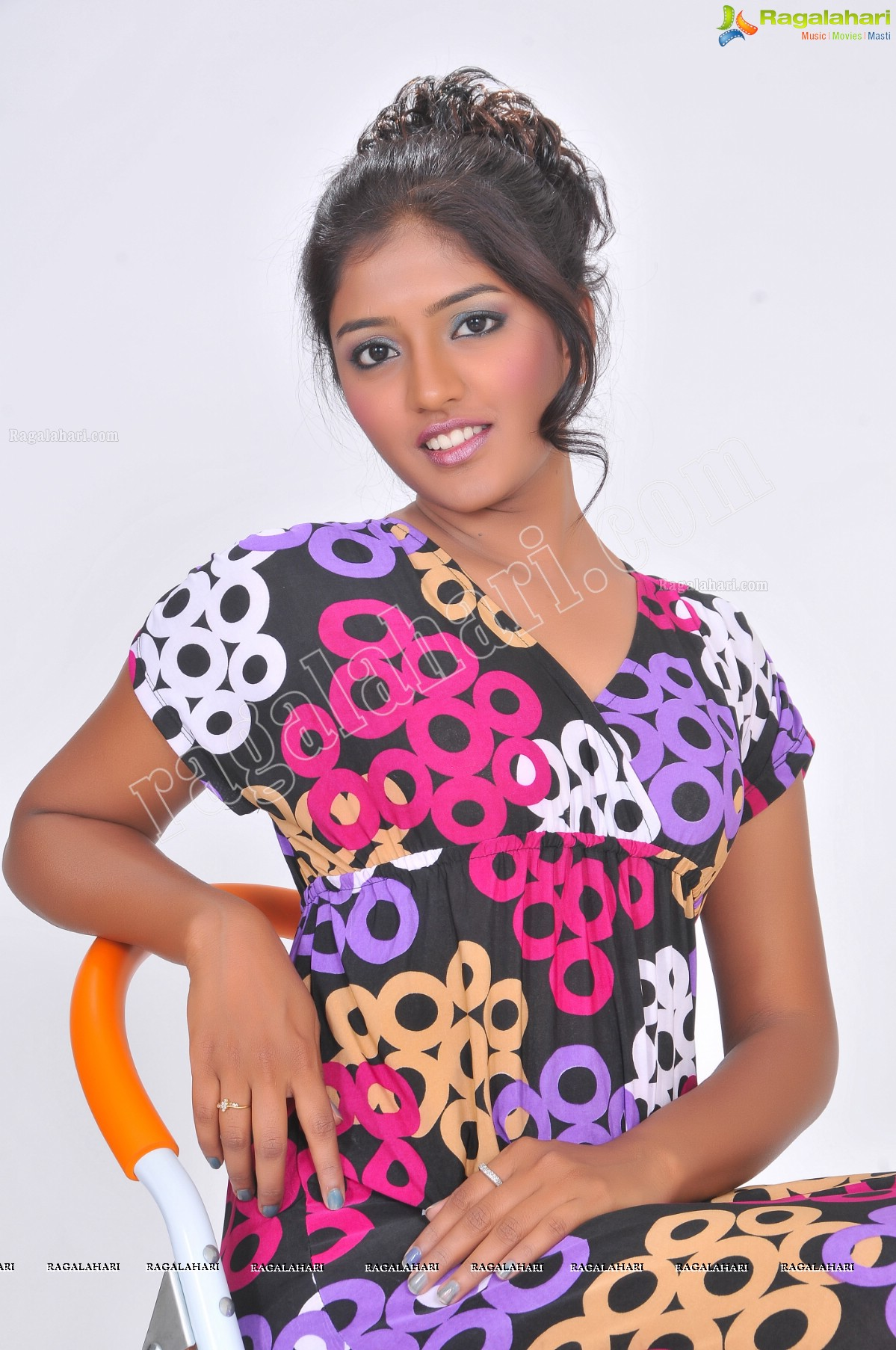 Eesha Rebba in Black Printed Tunic Exclusive Photo Shoot