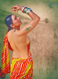 Ramya Sri in Village Women Getup